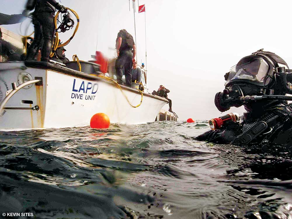 Like most police dive units, LAPD's Underwater Dive Unit started out in an unofficial capacity, comprised of officers with scuba certifications and little other training. Today it has a well-stocked mobile command center.