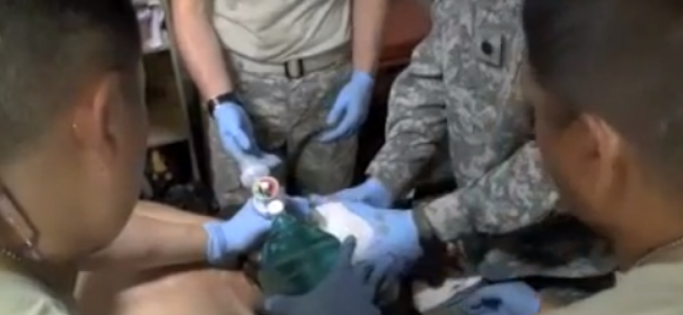 Three Critically Wounded- Combat Aid Station Clip 2